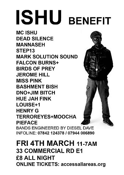 MC Ishu benefit poster